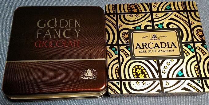 マルカ キカイ(7594)の株主優待:モロゾフのチョコレートとクッキー(アルカディア)