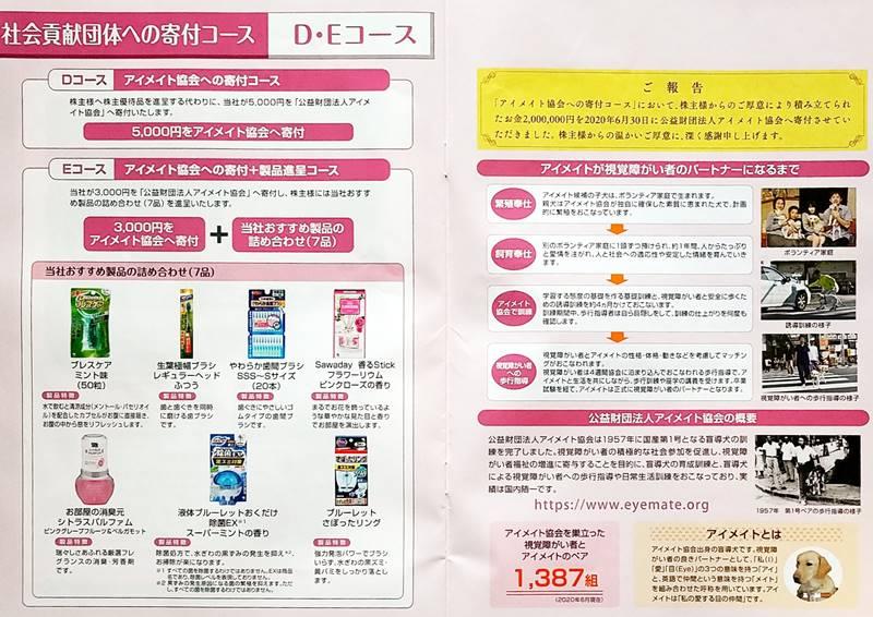 小林製薬(4967)の株主優待の案内(株主優待カタログ)5,000円相当の自社製品詰め合わせセット