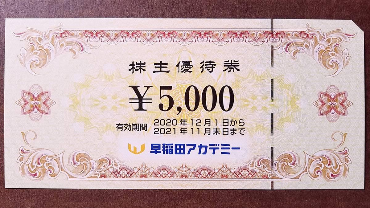 早稲田アカデミー(4718)の株主優待券