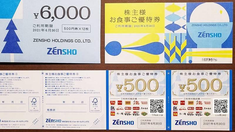 ゼンショーホールディングス(7550)の株主優待 株主お食事優待券