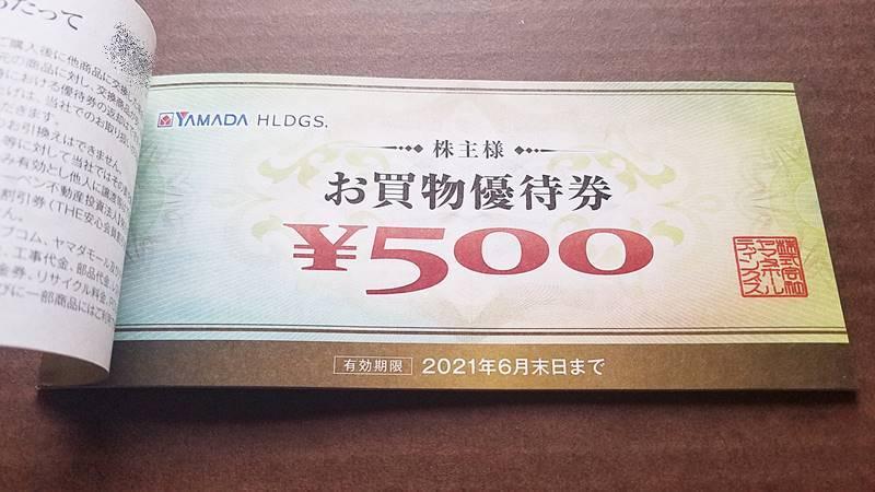 ヤマダホールディングス(9831)の株主優待 お買い物優待券