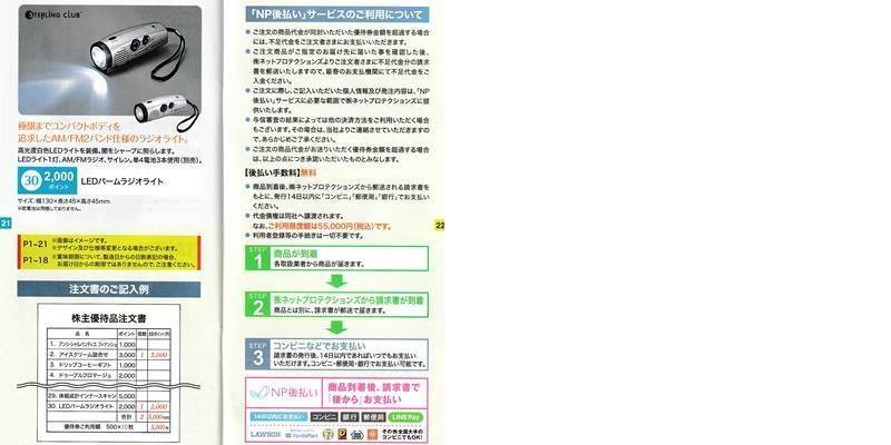 サーラコーポレーション(2734)の株主優待カタログ