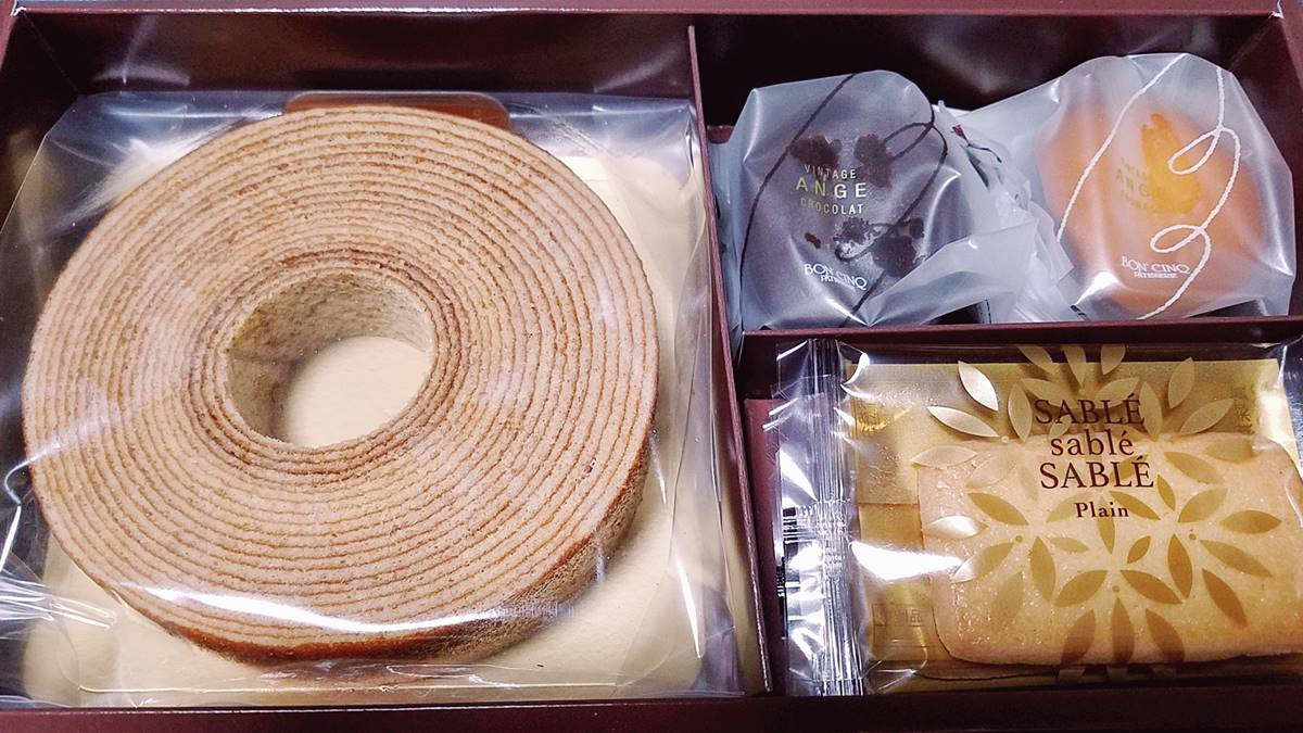 アイ・ケイ・ケイ(2198)の株主優待品 特選お菓子の詰め合わせ1500円相当 石村萬盛堂の洋菓子ボンサンク