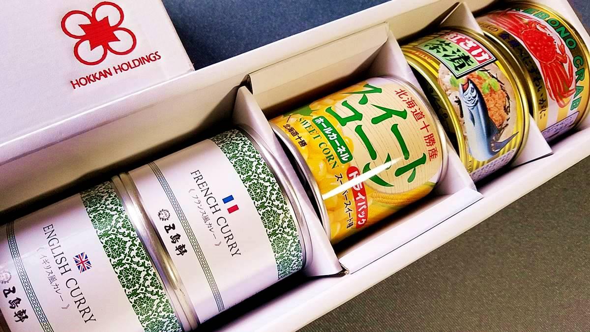 ホッカンホールディングス(5902)の株主優待 自社グループの容器に入った缶詰、3,000円相当の缶詰詰合せ