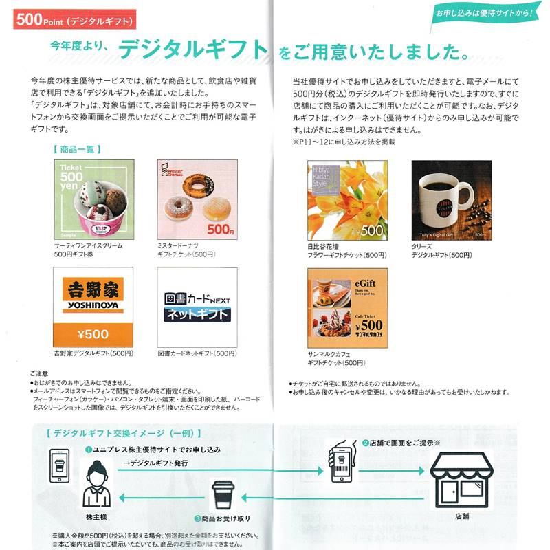 ユニプレス(5949)の株主優待の案内(株主優待カタログ)